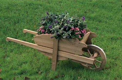 Fioriere carriola in legno buynet for Fioriera carriola