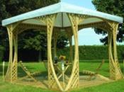 Gazebo basic con struttura in legno