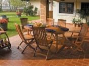 Tavolo allungabile in legno di balau Misure: cm.100 x 150/200 x h 75