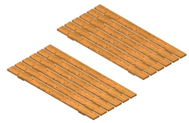 coperchio in legno per sabbiera