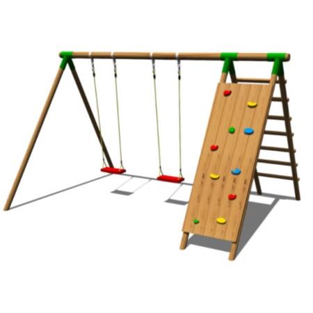 Altalena doppia con arrampicata