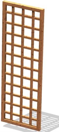 Griglia legno da terrazzo