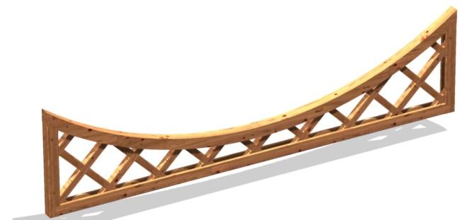 Graticciato in legno da terrazzo