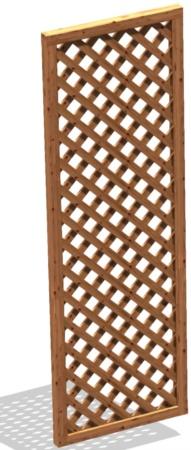 Grigliato legno da terrazzo maglia stretta