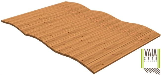 Stuoia arrotolatile in legno da esterno