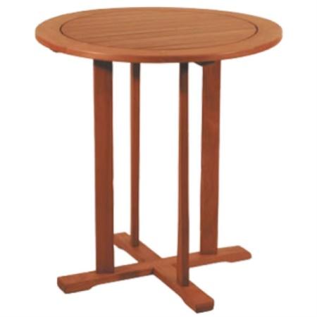 Tavolo rotondo piccolo in Balau