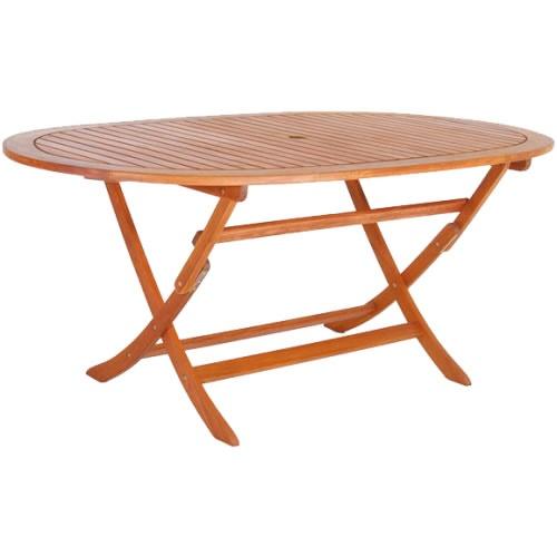 Tavoli Da Giardino In Legno Balau.Tavolo Ovale Pieghevole In Legno Di Balau Buynet