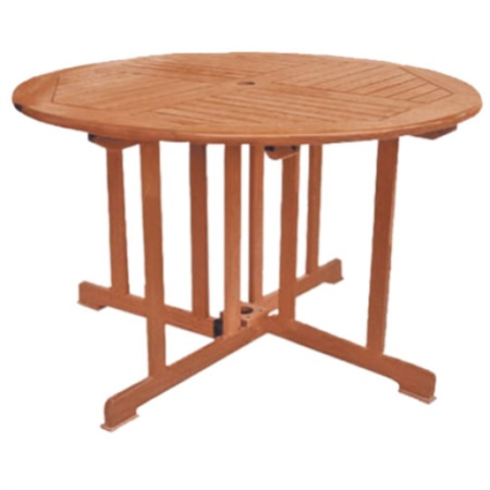 Tavolo rotondo pieghevole in legno di balau buynet for Tavolo di legno pieghevole
