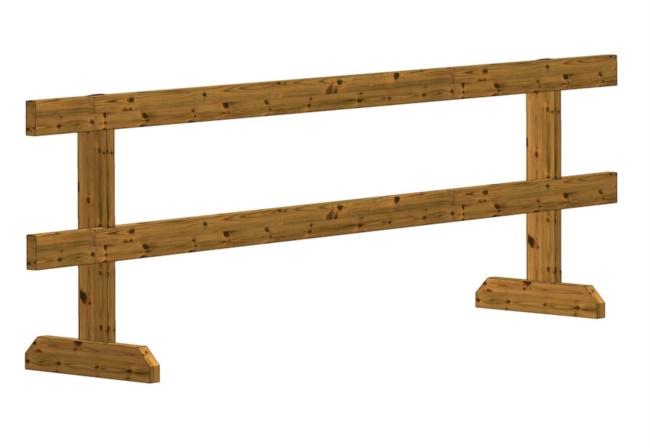 Transenna in legno fissa
